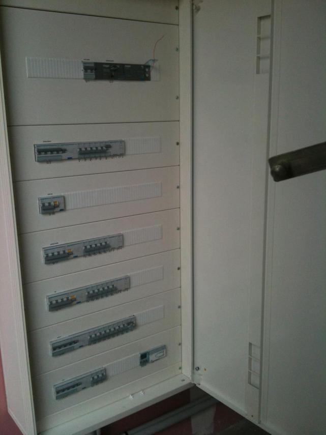 Câblage d'un tableau électrique pour un magasin