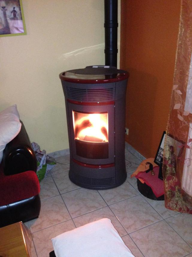 "Thermopoêle à granulé EDILKAMIN ""Trésor"" installé à Trangé (72650)"